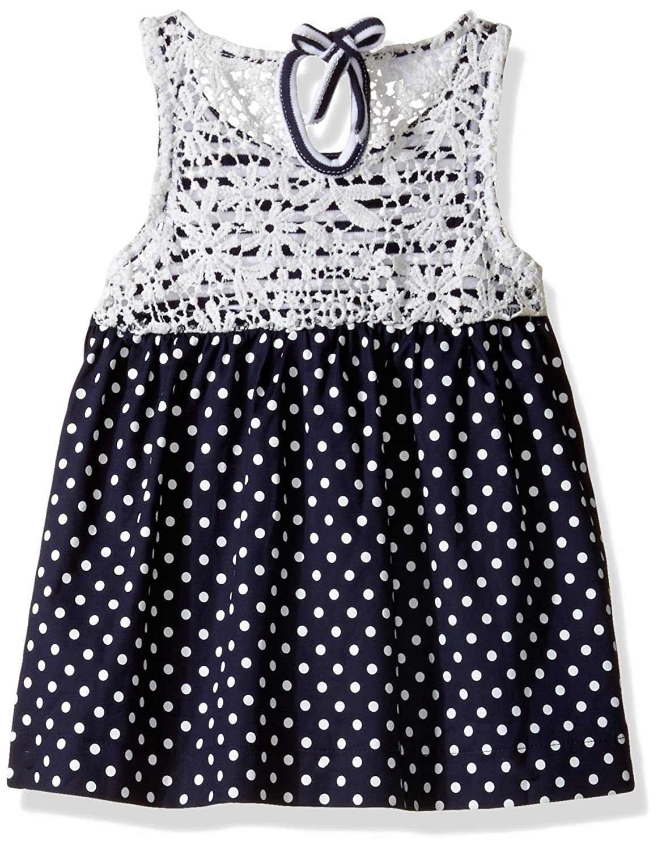 Mud Pie Baby Girls Casual Playwear Sleeveless Sun Dress Polka Dot Daisy