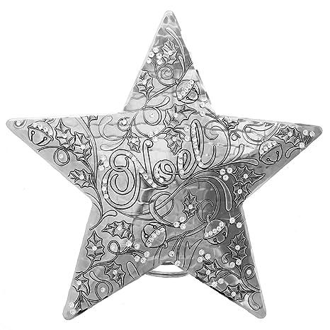 Amazon.com: Noel del Centenario Star Árbol Topper con ...
