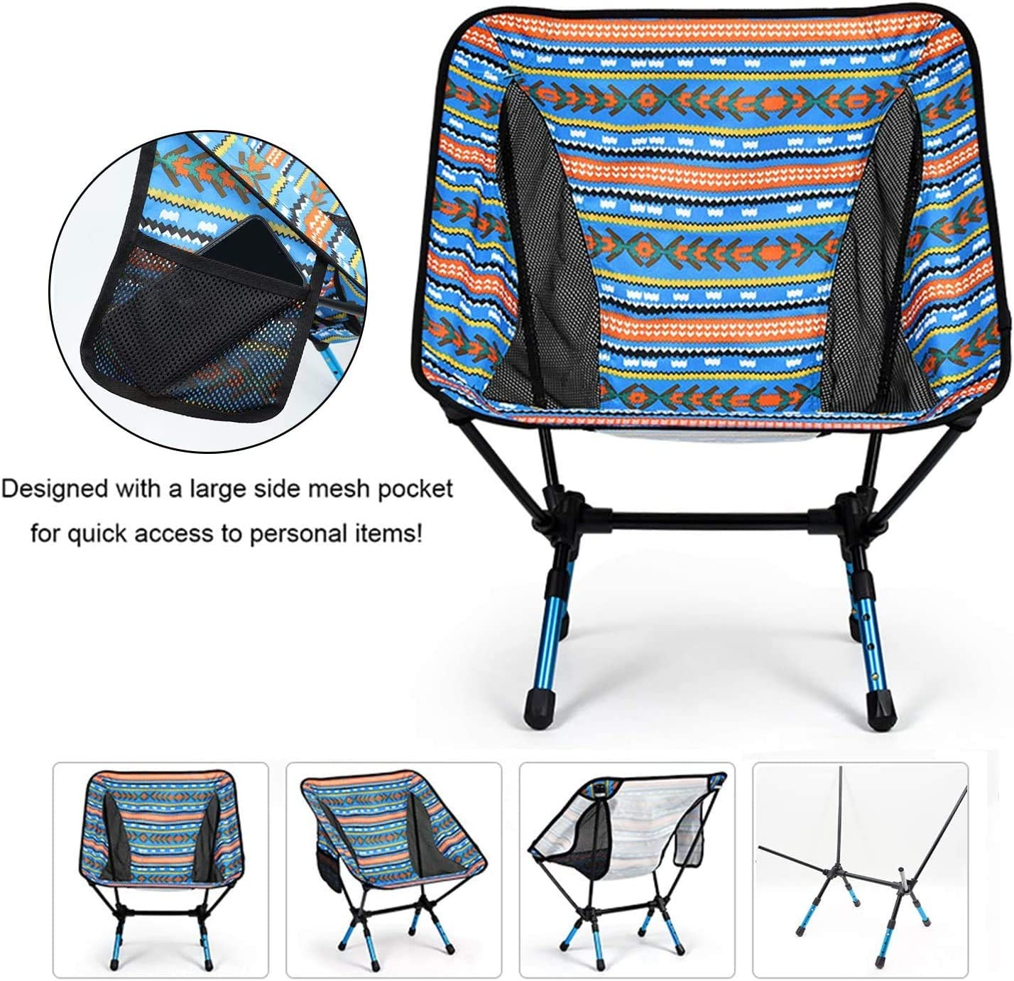 Beach YUANBAI Ultralight Portable Folding Camping Chairs,Portable Compact for Outdoor Camp Travel Lightweight Backpacking Picnic Festival Hiking
