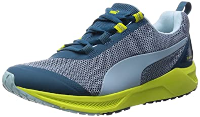 Puma Women's IGNITE XT Wn s Clearwater, Blue Coral and Sulphur Spring Mesh  Running Shoes