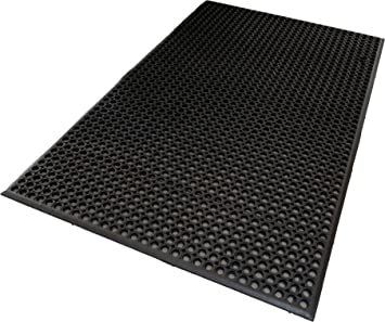 Delicieux Mats Inc. Professional Series Kitchen Mat, 3u0027 X 5u0027, Black