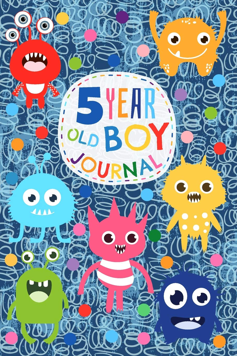 5 Year Old Boy Journal Cute And Funny Monster Creatures Happy