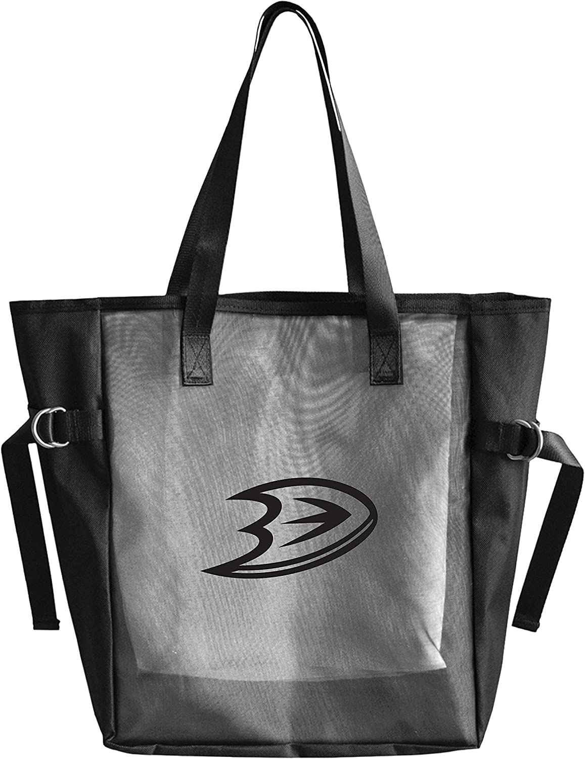 Littlearth Productions NHL Unisex-Adult NHL Black Mesh Reusable Fabric Tailgate Tote Bag with Black Vinyl Team Logo
