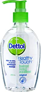 Dettol Healthy Touch Instant Liquid Hand Sanitizer Chamomile Anti-Bacterial, 200ml