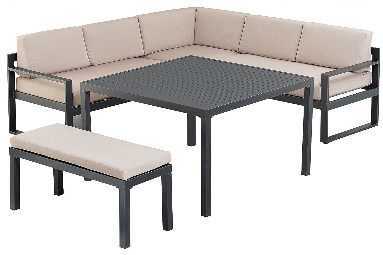 kettler exklusive ocean esstischgruppe garnitur in edlem anthrazit und beige aus hochwertigem. Black Bedroom Furniture Sets. Home Design Ideas