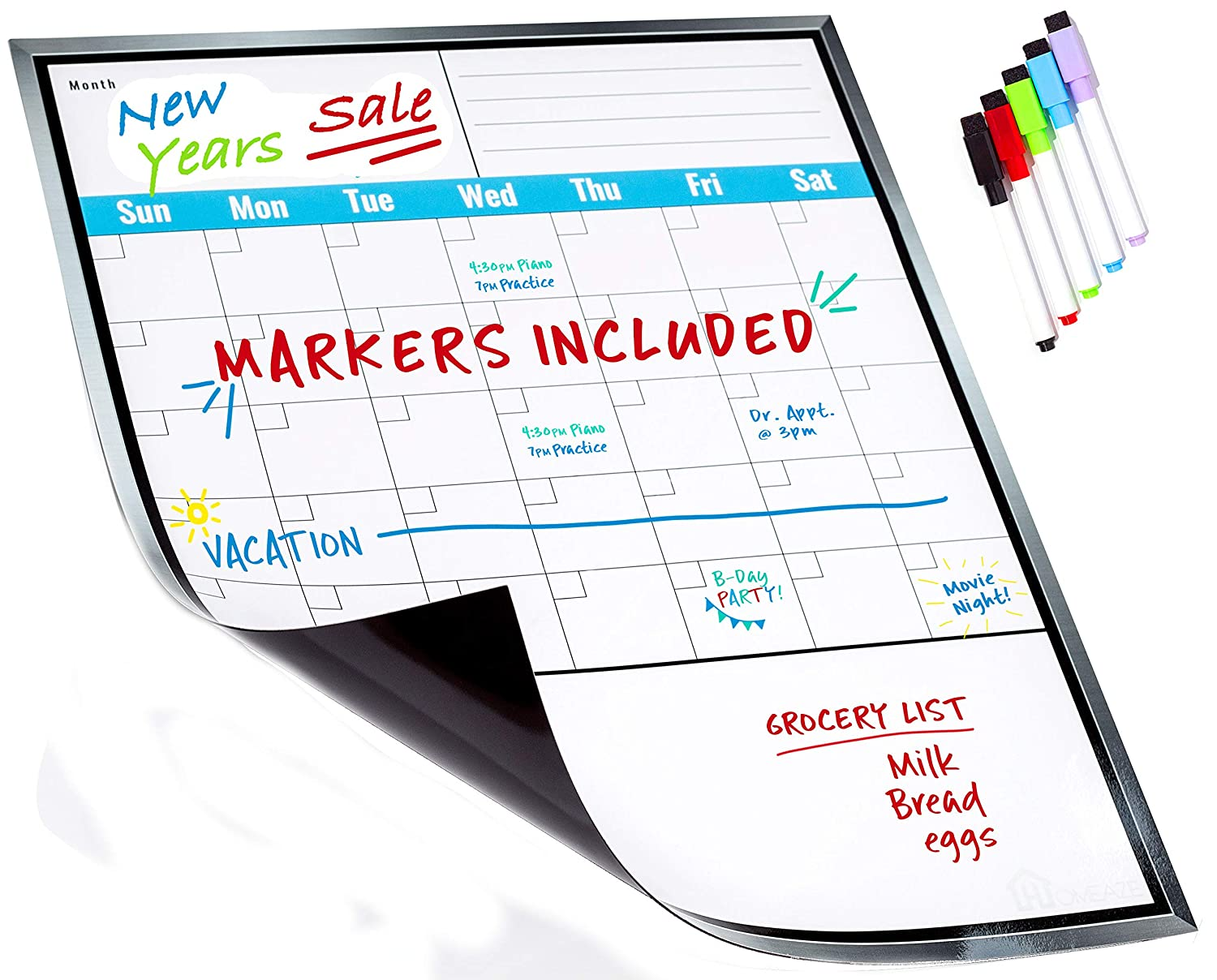 Amazon Com Large Dry Erase Monthly Magnetic Calendar Set For