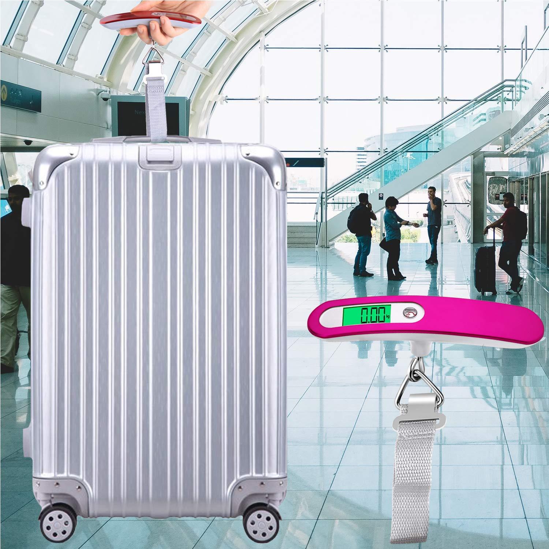 Elimoons P/èse Bagage Electronique Voyage Balance Portable P/èse Num/érique Max 50Kg//110Lb LB,kg Bleu
