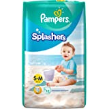 Pampers Splashers Disposable Swim Pants Diapers, 12 Count (Medium)