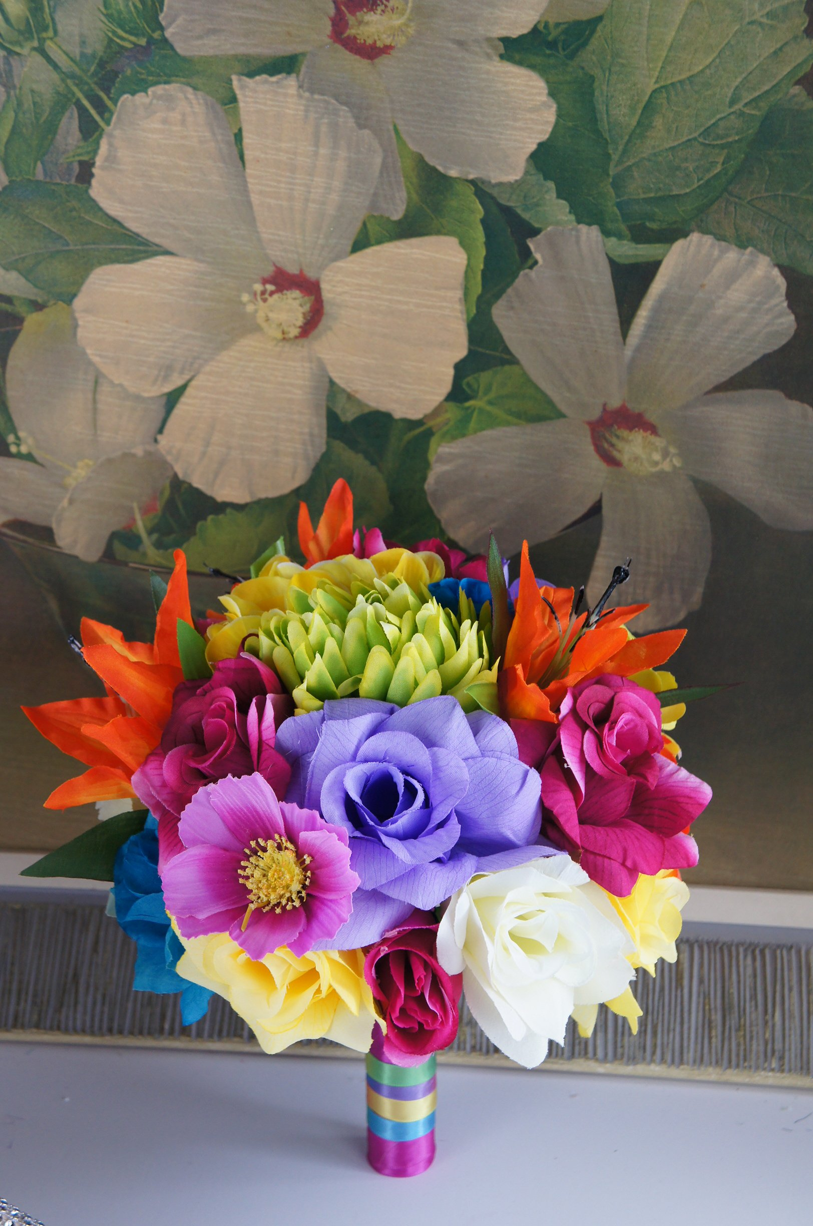 Angel Isabella 9 Colorful Wedding Bouquet Perfect For Rainbow Wedding Theme