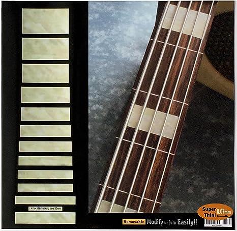 Pegatinas adhesivas para guitarra y bajo con incrustaciones de diapas/ón bloque vintage
