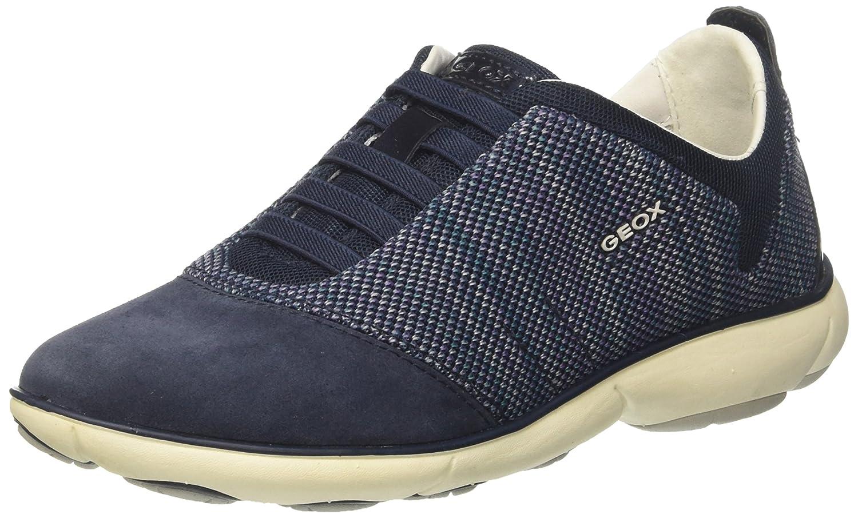 Geox D Nebula C, Zapatillas para Mujer 38 EU|Azul (Navy)