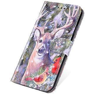 SainCat Custodia iPhone 5S, Cover Compatibile con iPhone 5/5S/SE Custodia Libro Glitter Bling Antiurto Portafoglio Book Styke Cover Funzione di Staffa Flip Leather Case-Fenicotteri
