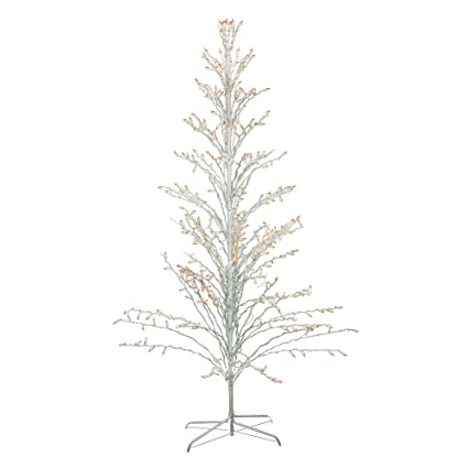 6 white lighted christmas cascade twig tree outdoor decoration clear lights - White Twig Christmas Tree