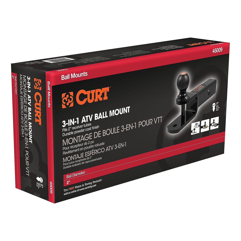 Curt 45009 3-in-1 ATV Ball Mount
