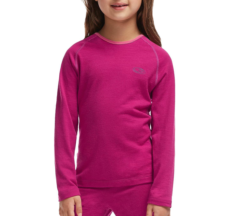 Icebreaker Oasis Kids Long Sleeve Shirt Bottom Shirt Long Sleeve Crew Neck IBO188679
