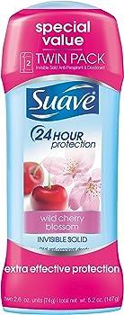 2-Pack Suave Wild Cherry Blossom Antiperspirant Deodorant (2.6 oz)