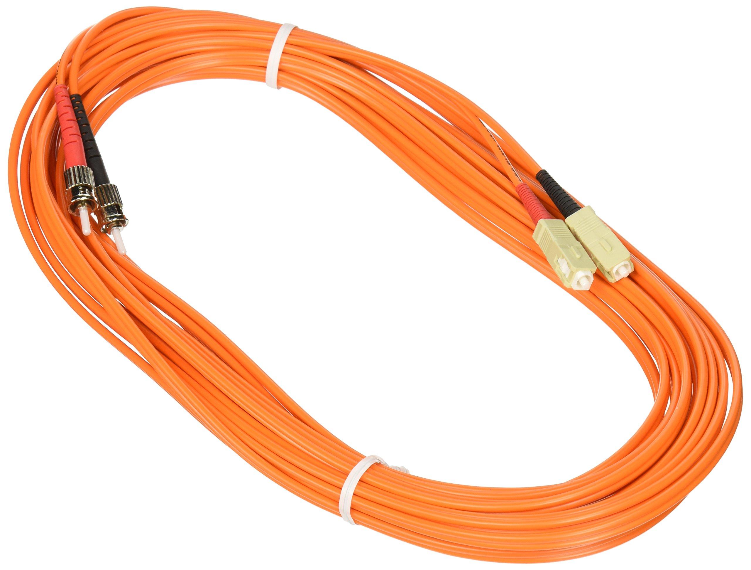 C2G/Cables to Go 13567 SC/ST Duplex 62.5/125 Multimode Fiber Patch Cable (8 Meters, Orange)