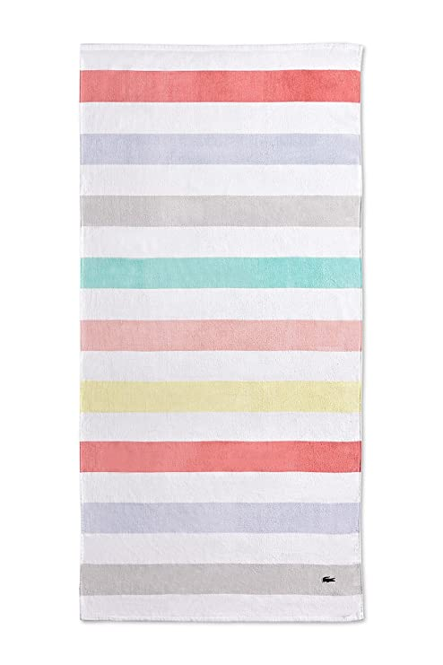 Toalla de playa Lacoste color block (90 x 180 cm)