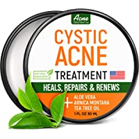 Cystic Acne Treatment and Acne Scar Remover - Made in USA - Effective Face & Body Severe Acne Cleanser with Tea Tree Oil…