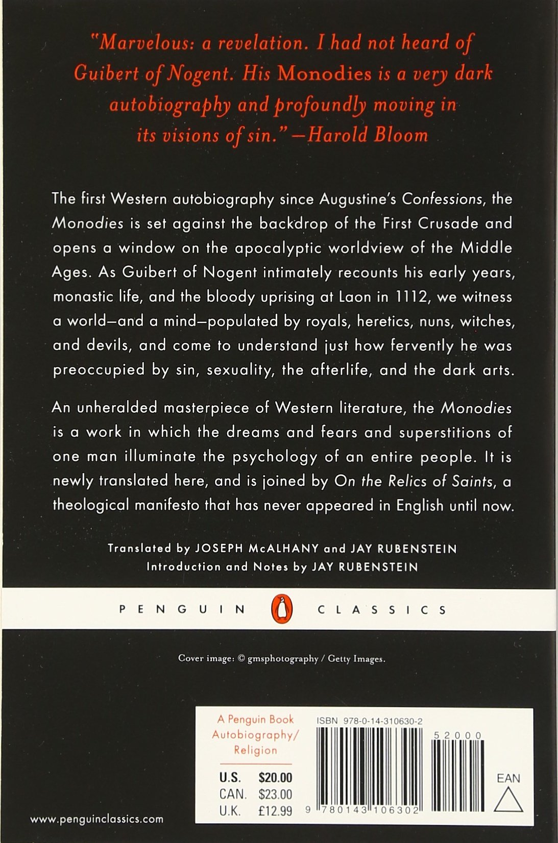 Amazon: Monodies And On The Relics Of Saints: The Autobiography And A  Manifesto Of A French Monk From Thetime Of The Crusades (penguin Classics)