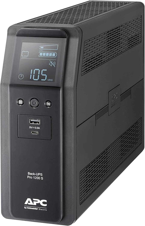 Back UPS Pro de APC by Schneider Electric - BR1200SI - UPS 1200VA (8 Salidas IEC, Interfaz LCD, Salida de Onda senoidal Pura)