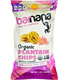 Barnana Organic Plantain Chips - Himalayan Pink Salt- 5 Ounce, 3 Pack - Salty, Crunchy, Thick Sliced Snack - Best Chip…