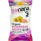 Barnana Organic Plantain Chips, Himalayan Pink Salt, 5 Ounce Bag - Paleo, Vegan, Grain Free Chips