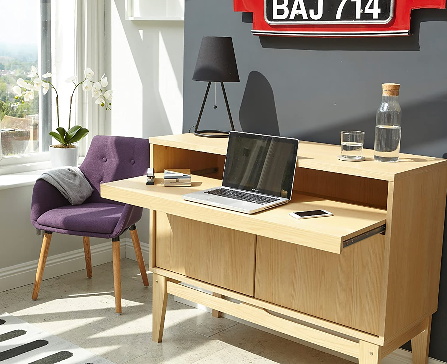 Contemporary Bureau Home Office Desk Amazoncouk Office Products