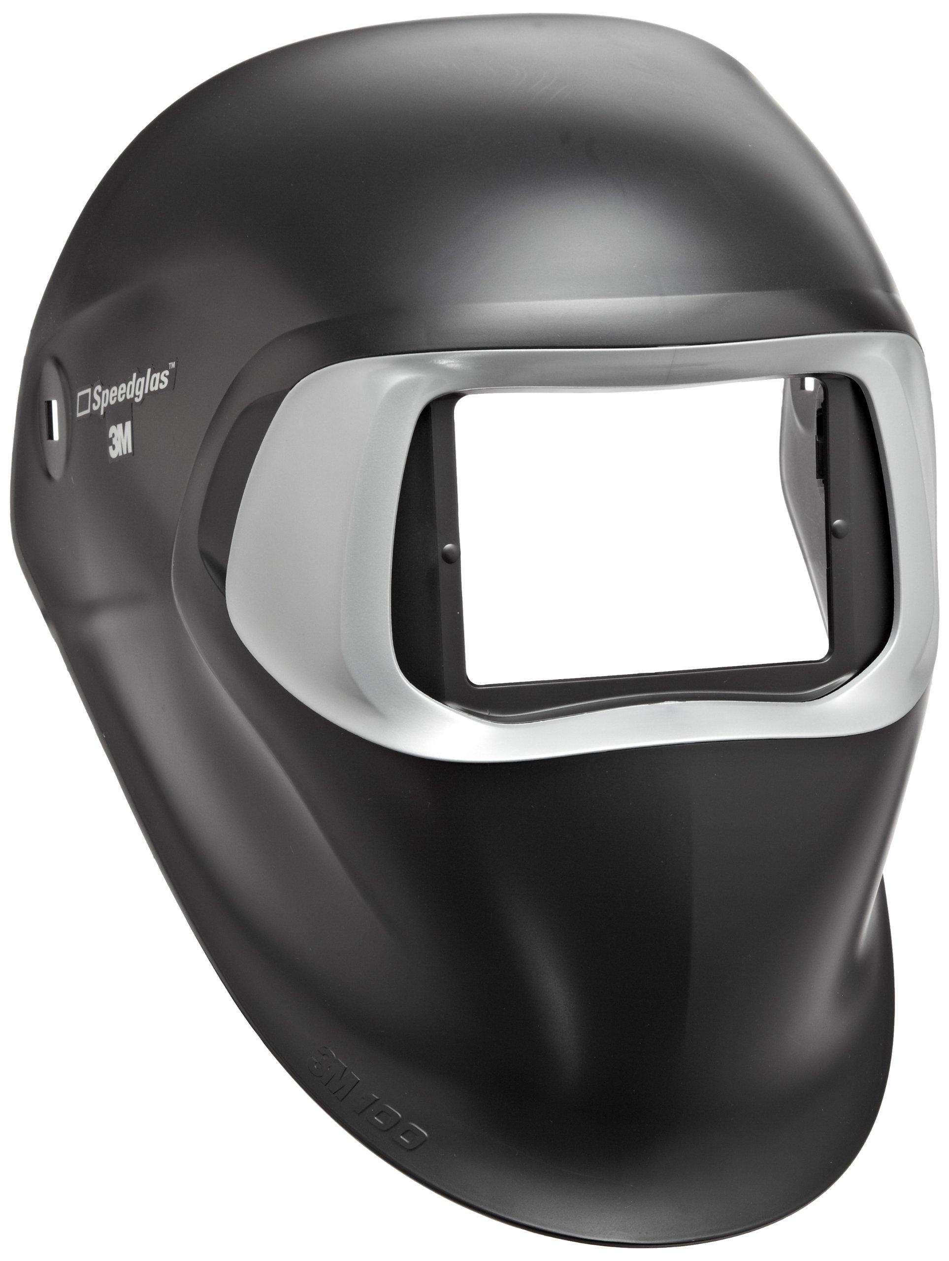 3M Speedglas Black Welding Helmet 100, Welding Safety 07-0012-00BL, without Headband and 3M Speedglas Auto-Darkening Filter by 3M Personal Protective Equipment (Image #1)