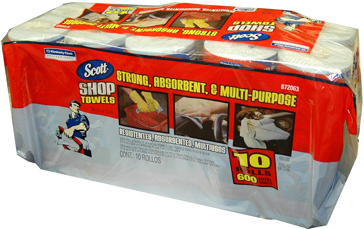 Scott Shop Towel Rolls 10 Pk: Paper Towels: Amazon.com: Industrial & Scientific