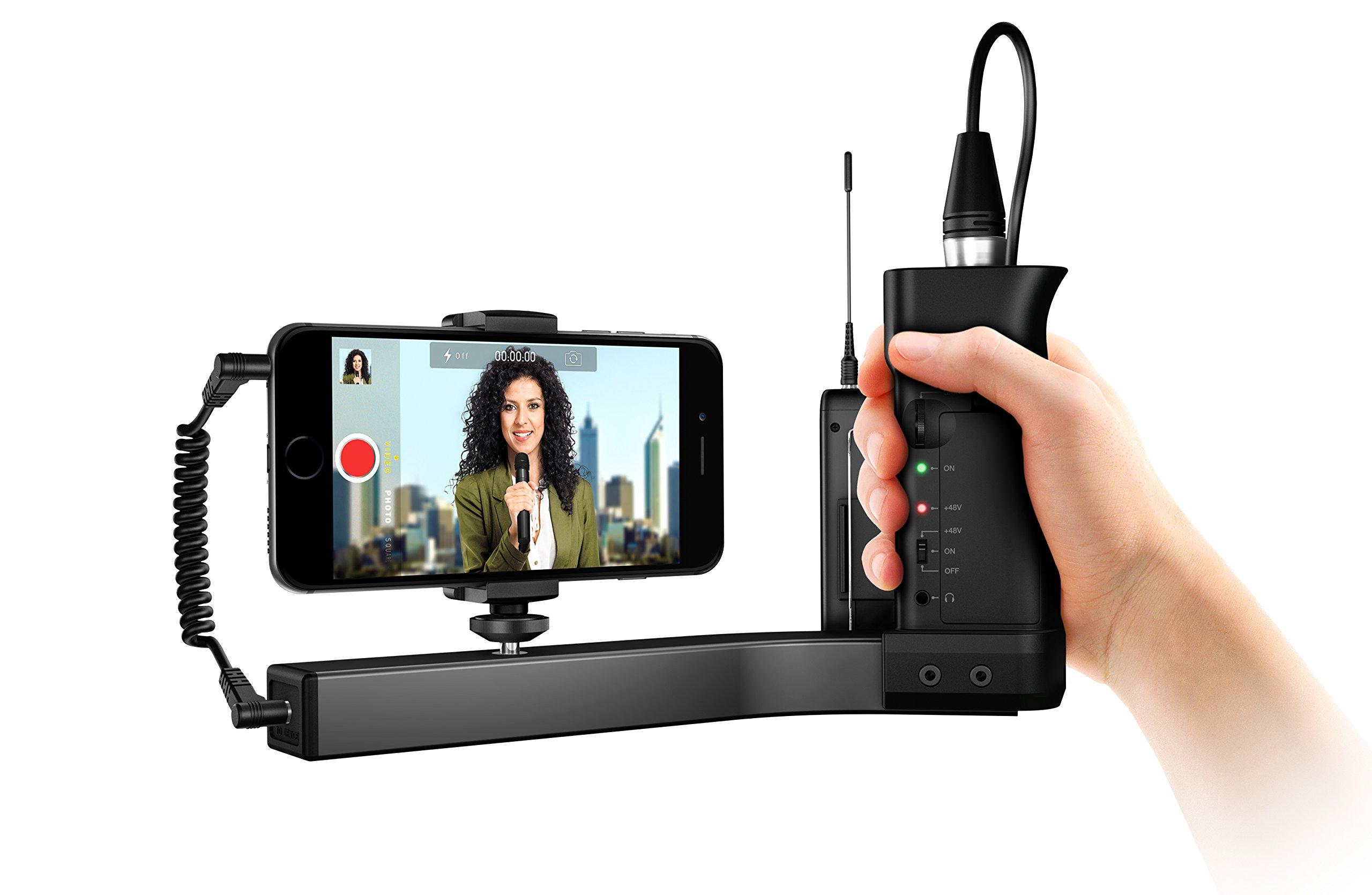 IK Multimedia iKlip A/V Broadcast Audio/Video Mount & Pre-Amp for Smartphones by IK Multimedia