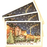 グリーティングライフ クリスマス カード ミニサンタセピア 3枚セット 東京駅 S-360-AM