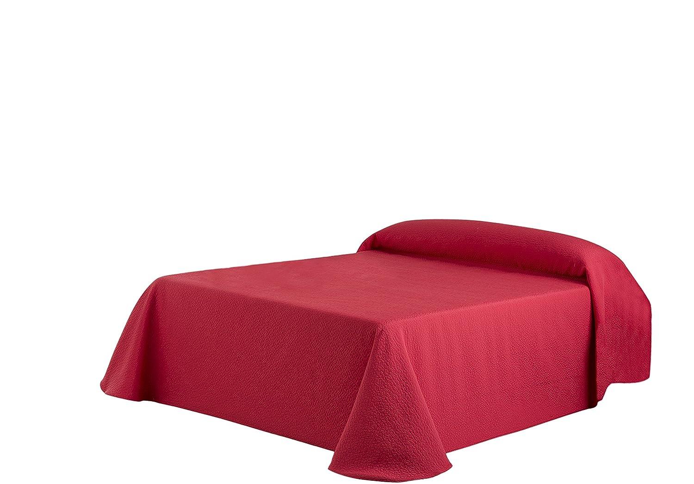 Eysa Sofaüberwurf, 270 cm, 75 Prozent Polyester, 25 Prozent Baumwolle, Kies Tagesdecke rot 08