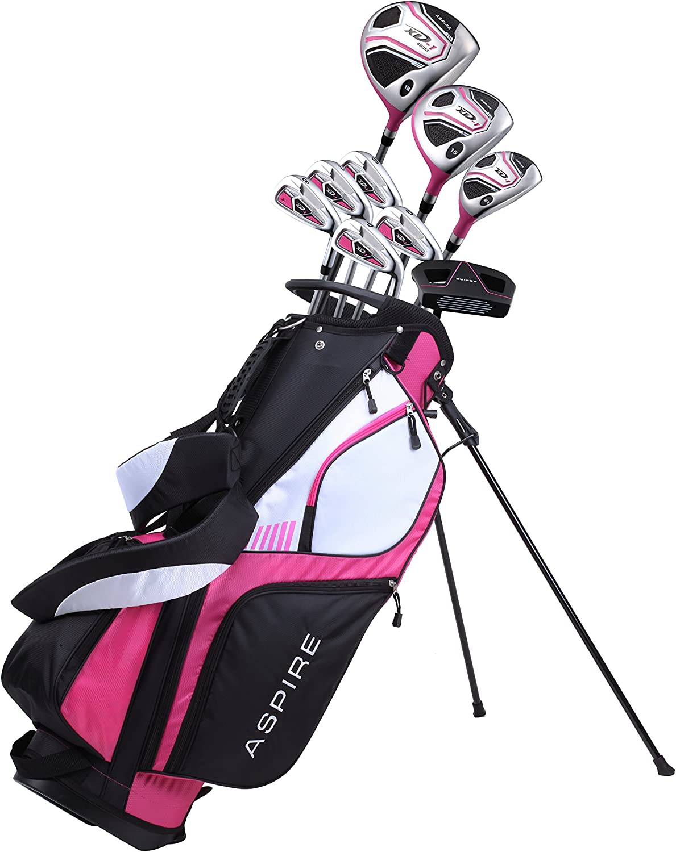 Amazon Com Premium Lightweight Ladies Golf Club Set Right Hand Cherry Pink Purple Standard Petite Tall Clubs With Lady Flex Sports Outdoors