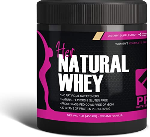 Protein Powder For Women – Her Natural Whey Protein Powder For Weight Loss To Support Lean Muscle Mass – Low Carb – Gluten Free – rBGH Hormone Free – Naturally Sweetened with Stevia – Designed For Optimal Fat Loss Creamy Vanilla – Net Wt. 1 LB