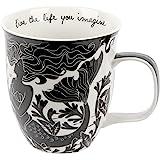 Karma Gifts Boho Black and White Mug, Mermaid