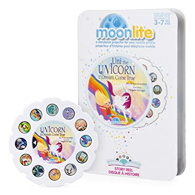 Moonlite - Uni the Unicorn and the Dream Come True Story Reel for Moonlite Storybook Projector, for Ages 3 and Up: Toys & Games