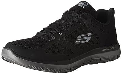 Skechers Hommes - Flex Advantage 2.0 LINDMAN 52189 - Black Charcoal, Taille:EUR 45