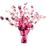 Perfectly Pink Party - Age 50/50th Birthday Weighted Centrepiece