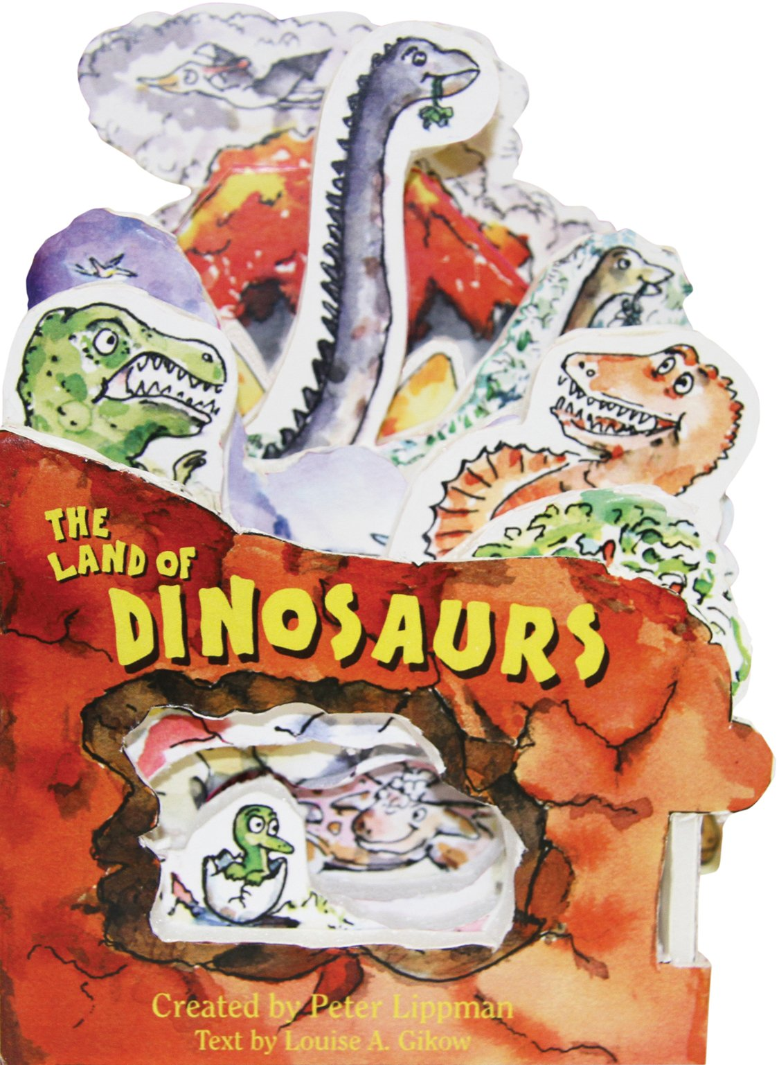 The Land of Dinosaurs: A Mini-House Book