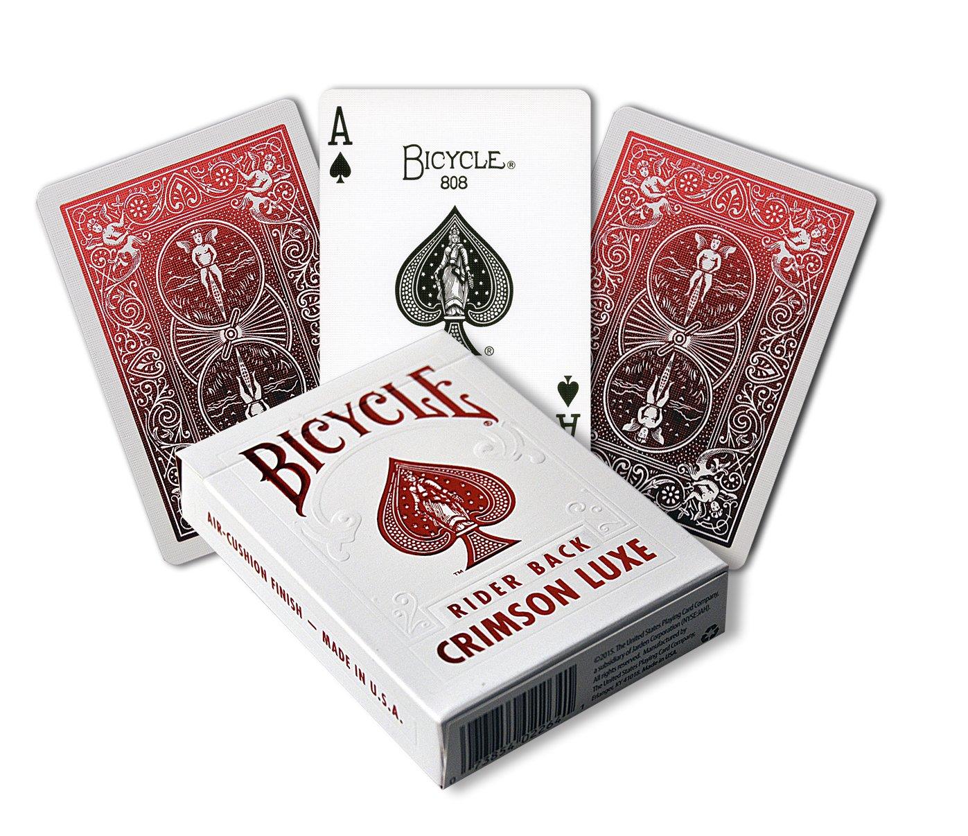 Bicycle Juego de Cartas Metalluxe Crimson 1030987 de la ...