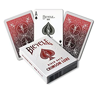 Bicycle Juego de Cartas Metalluxe Crimson 1030987 de la ...