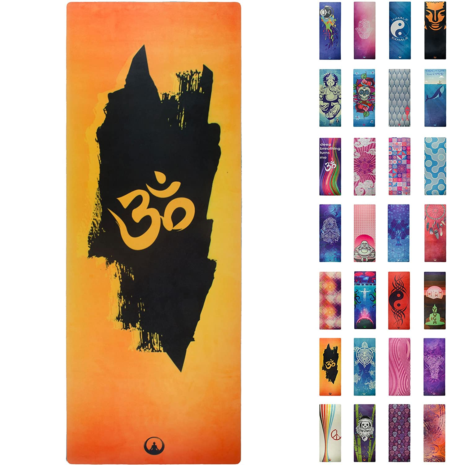 mat geo yoga of feather ca mats printed picture reversible gaiam