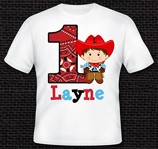 e2c5fc64e Personalized Cowboy Birthday Shirt - T-Shirt - TShirt - Infant Baby  Bodysuit - Adult Tee. Custom with ANY AGE or NAME by One Whimsy Chick -  100% Cotton ...