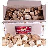 Zorestar Oak Smoker Wood Chunks, BBQ Cooking Natural Wood Chunks for All Smokers, 15-20 lbs