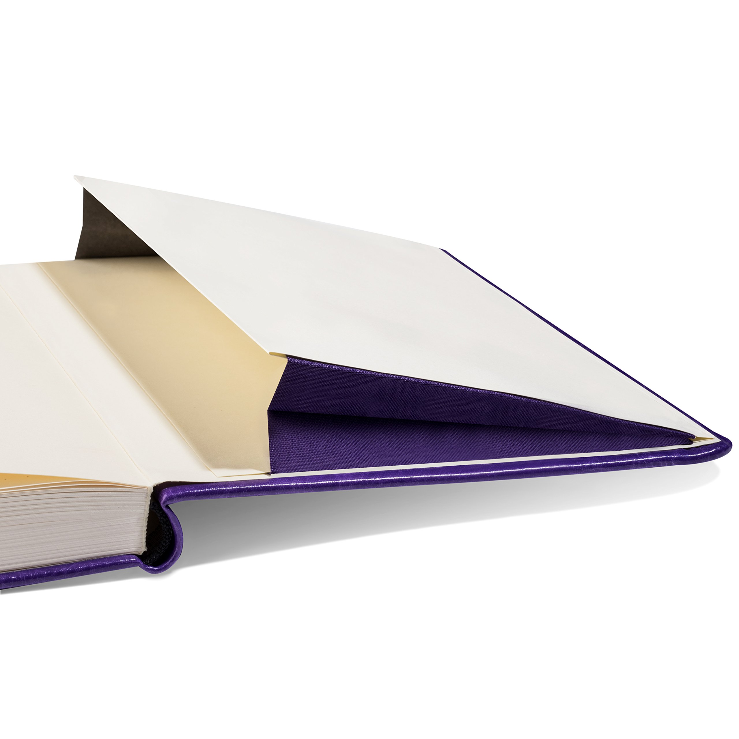 Scrivwell Dotted A5 Hardcover Notebook - 240 Dotted Pages with Elastic Band, Two Ribbon Page Markers, 100 GSM Paper, Pocket Folder - Great for Bullet journaling (Purple) by Scrivwell (Image #4)