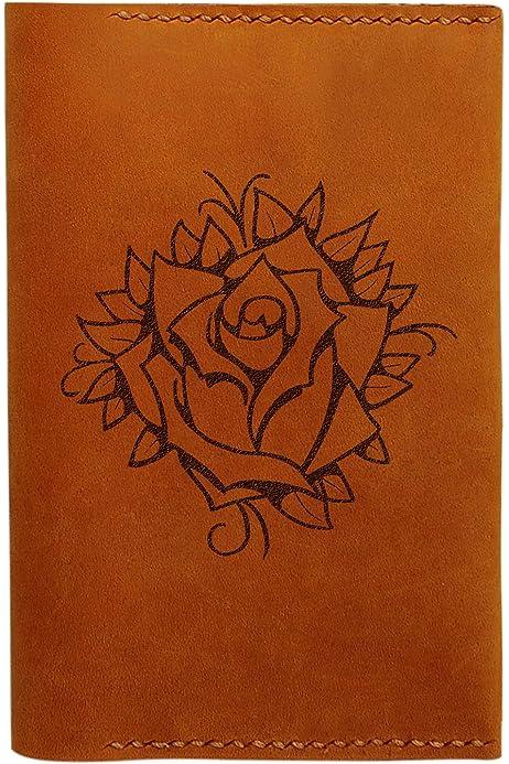 Tree Pattern Handmade Genuine Leather Passport Holder Case HLT/_01