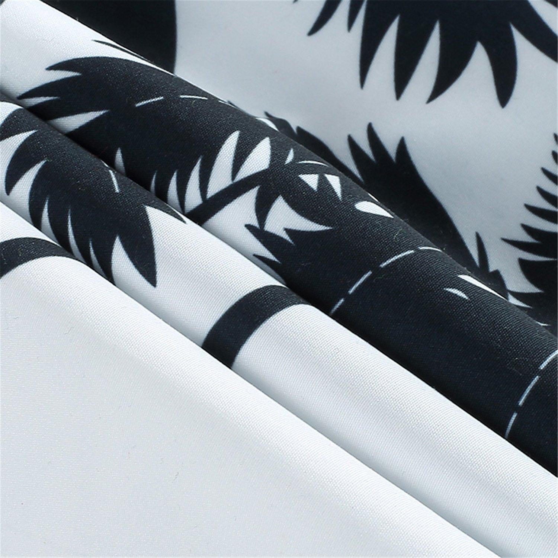 Dersimio Mens Hawaiian Shirt Male Casual Camisa Masculina Printed Beach Shirts Short Sleeve Clothing