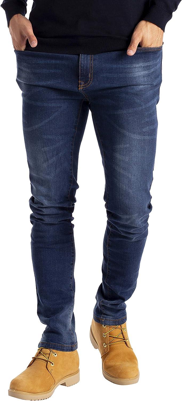 Pantaloni da uomo Slim Fit Flex in denim elasticizzato 98/% cotone e 2/% stretch vita 28 40