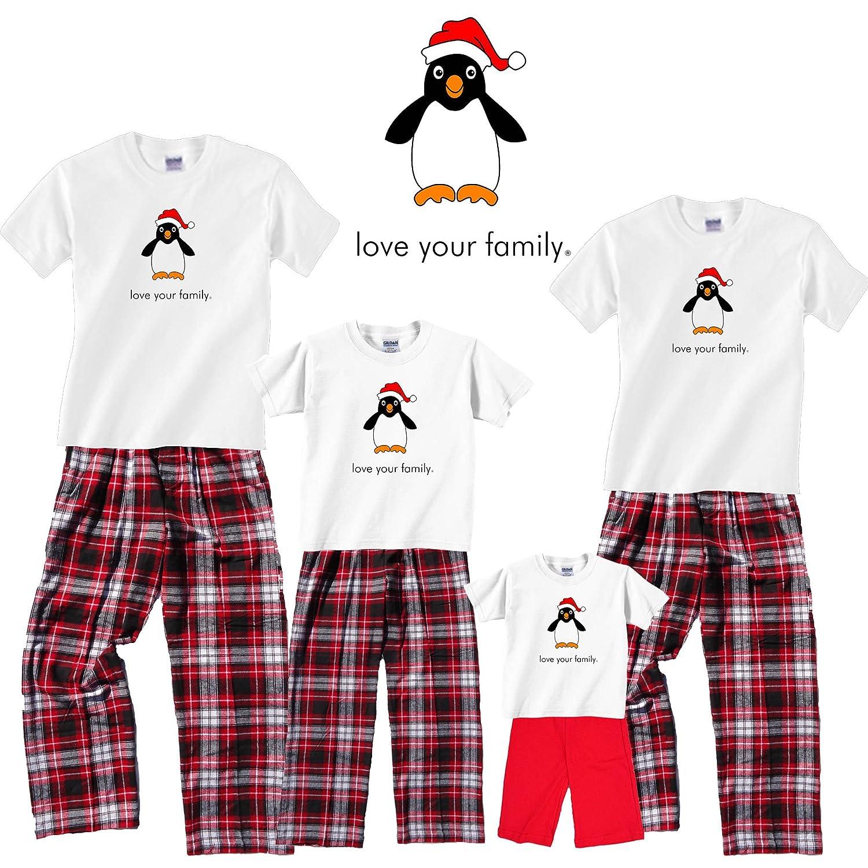 amazoncom matching family christmas adult pajamas kids playwear penguin flannel clothing clothing